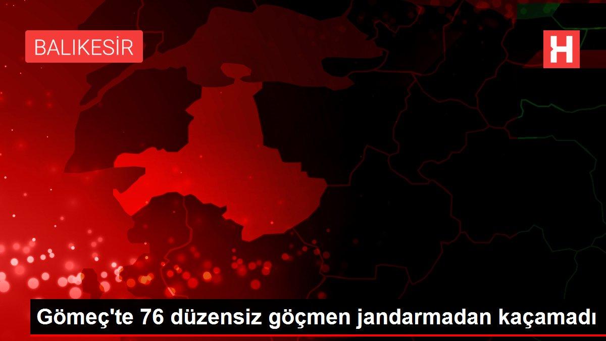 Gömeç te 76 düzensiz göçmen jandarmadan kaçamadı
