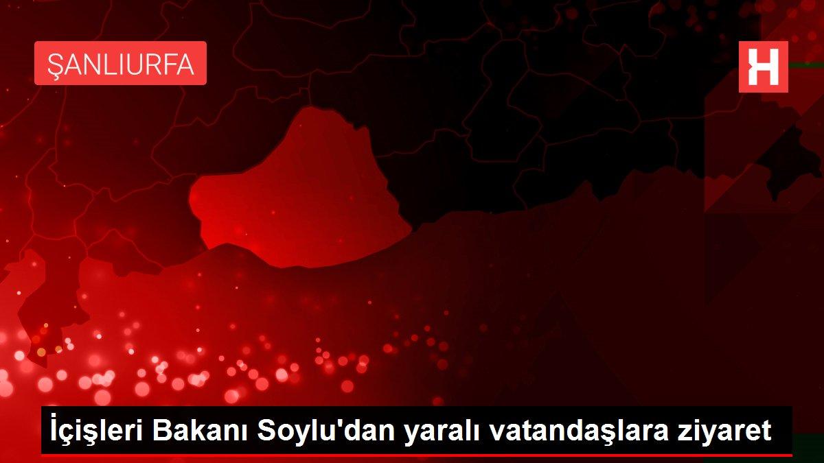 İçişleri Bakanı Soylu'dan yaralı vatandaşlara ziyaret