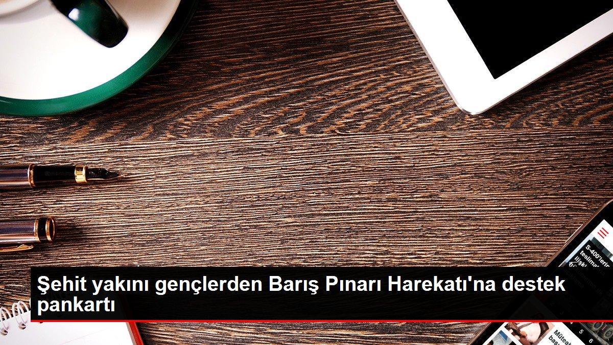 Şehit yakını gençlerden Barış Pınarı Harekatı'na destek pankartı