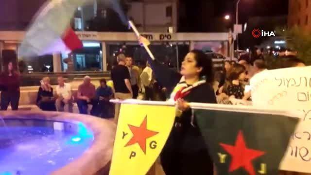 - İsrail'de terör örgütü YPG/PKK'ya destek gösterisi