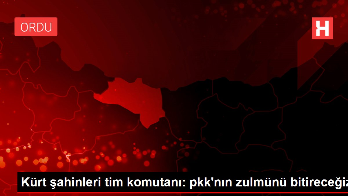 Kürt şahinleri tim komutanı: pkk'nın zulmünü bitireceğiz