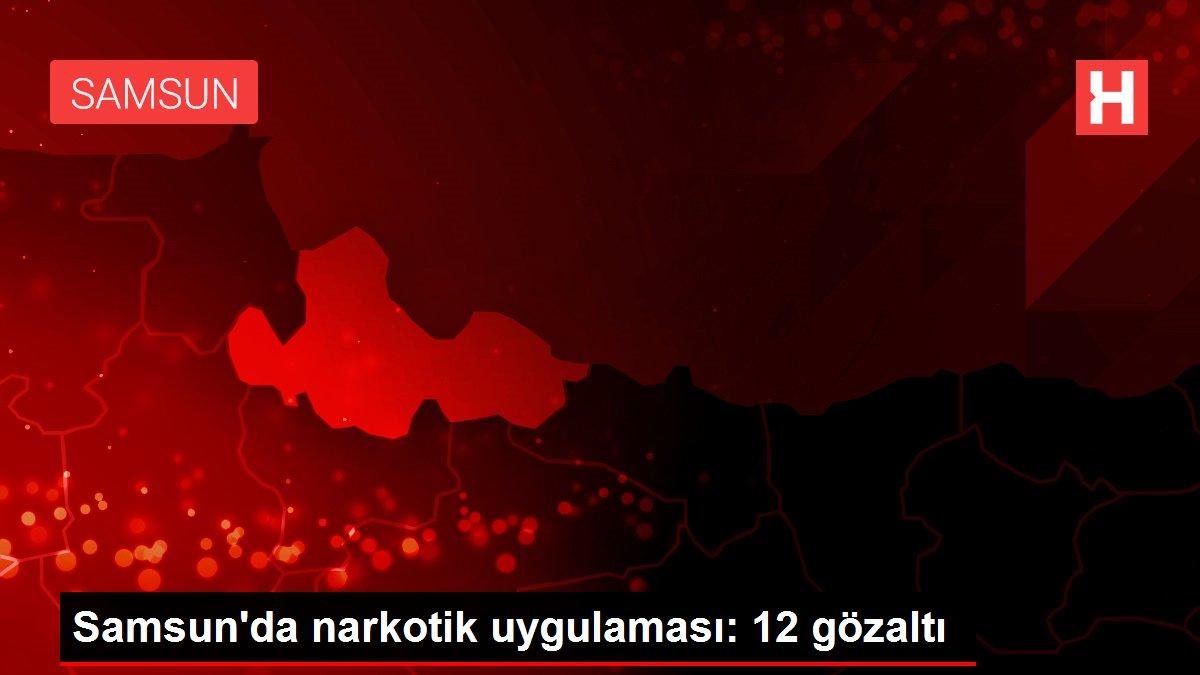Samsun'da narkotik uygulaması: 12 gözaltı