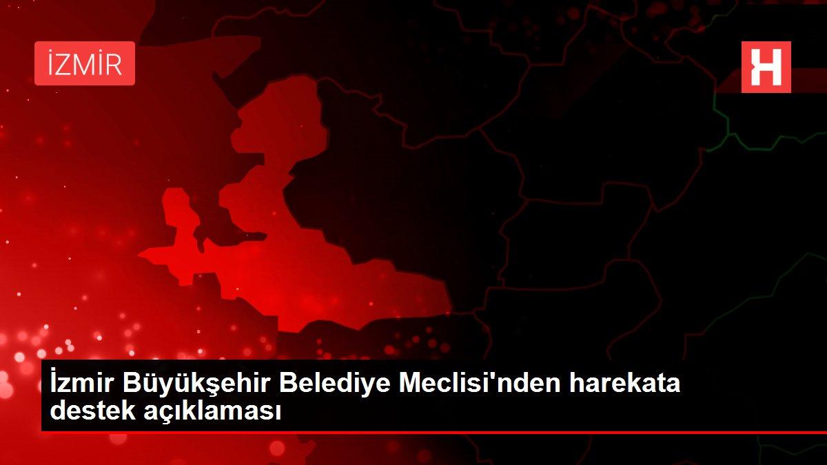 İzmir Büyükşehir Belediye Meclisi'nden harekata destek açıklaması