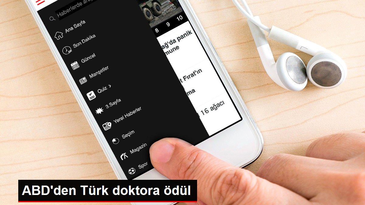 ABD'den Türk doktora ödül