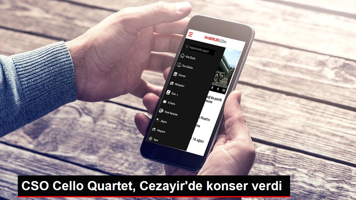 CSO Cello Quartet, Cezayir'de konser verdi