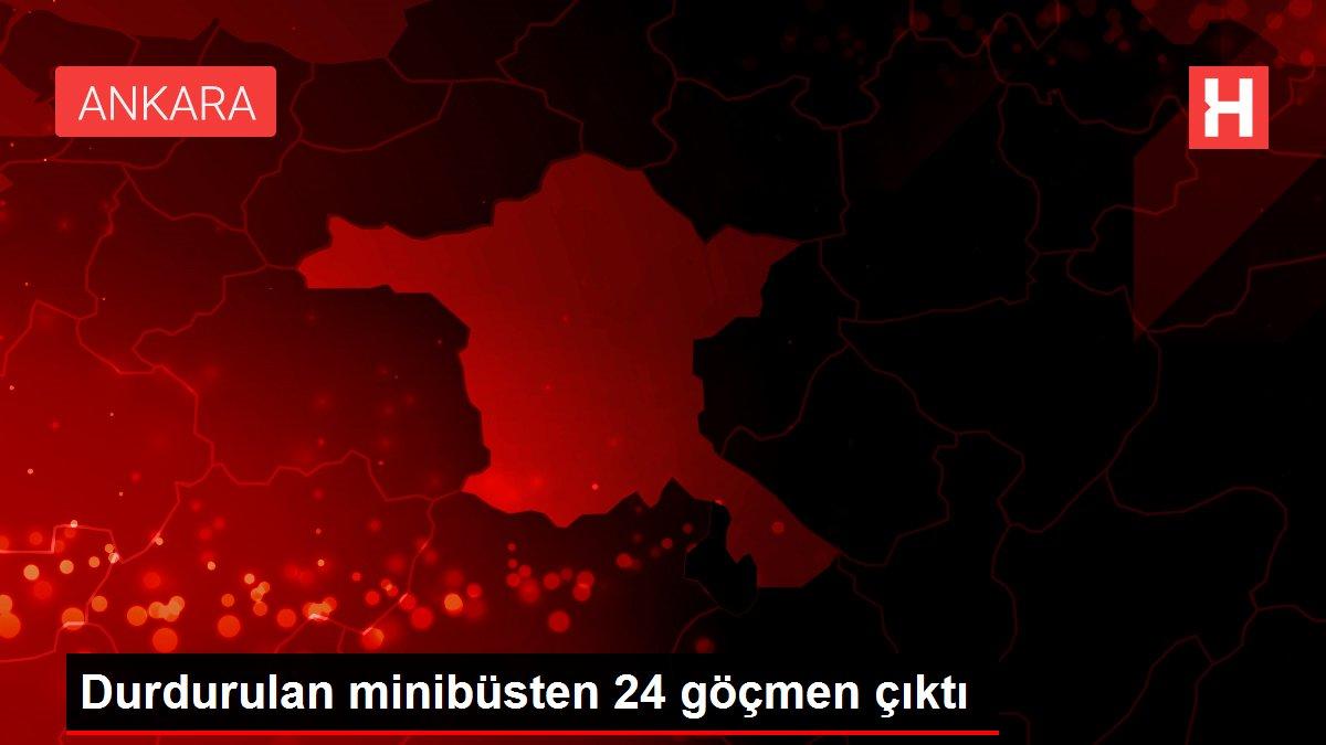 Durdurulan minibüsten 24 göçmen çıktı