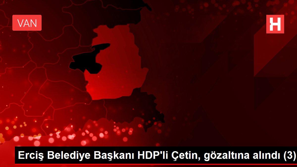 Erciş Belediye Başkanı HDP'li Çetin, gözaltına alındı (3)