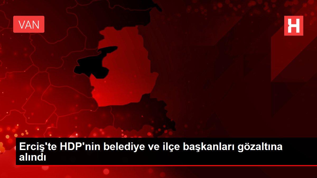 Erciş'te HDP'nin belediye ve ilçe başkanları gözaltına alındı