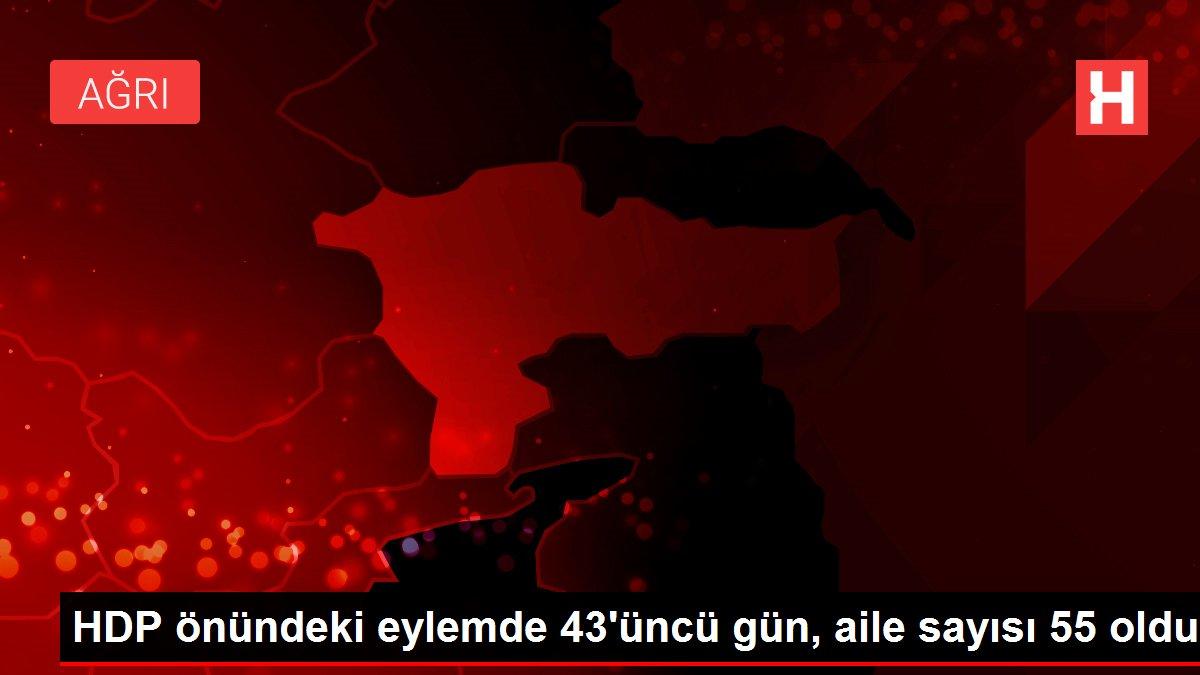 HDP önündeki eylemde 43'üncü gün, aile sayısı 55 oldu