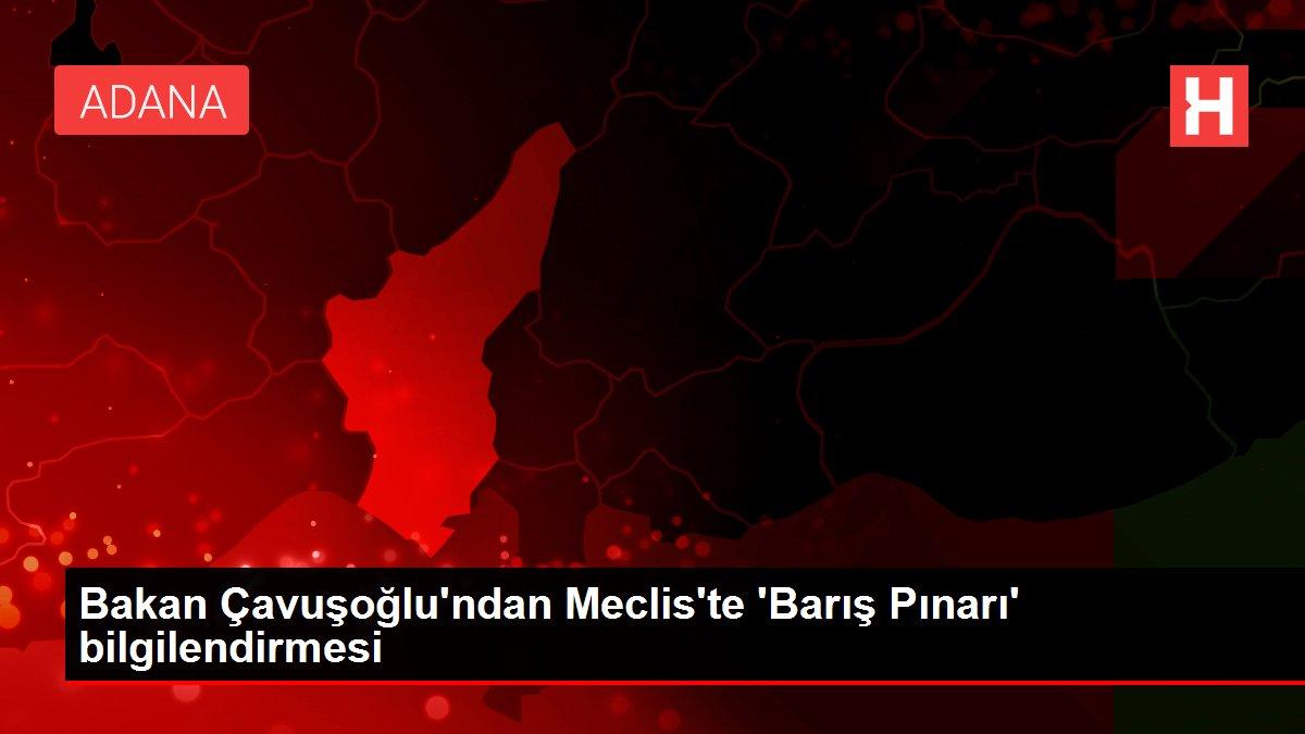 Bakan Çavuşoğlu'ndan Meclis'te 'Barış Pınarı' bilgilendirmesi