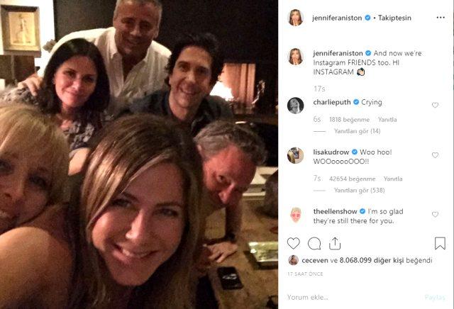 jennifer aniston instagramda paylaştığı ilk fotoğraf ile ilgili görsel sonucu