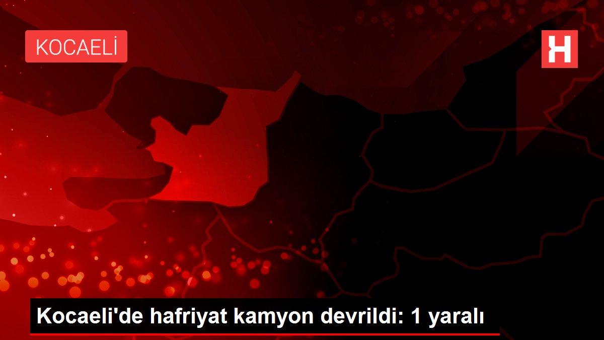 Kocaeli'de hafriyat kamyon devrildi: 1 yaralı