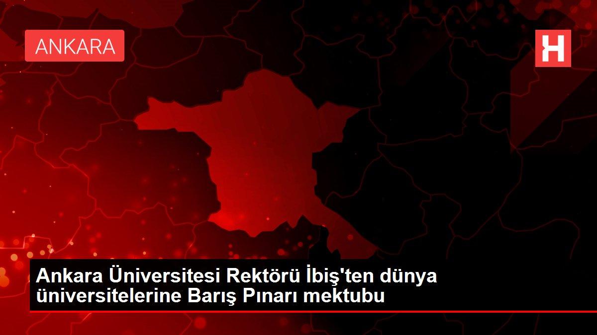 Ankara Üniversitesi Rektörü İbiş'ten dünya üniversitelerine Barış Pınarı mektubu