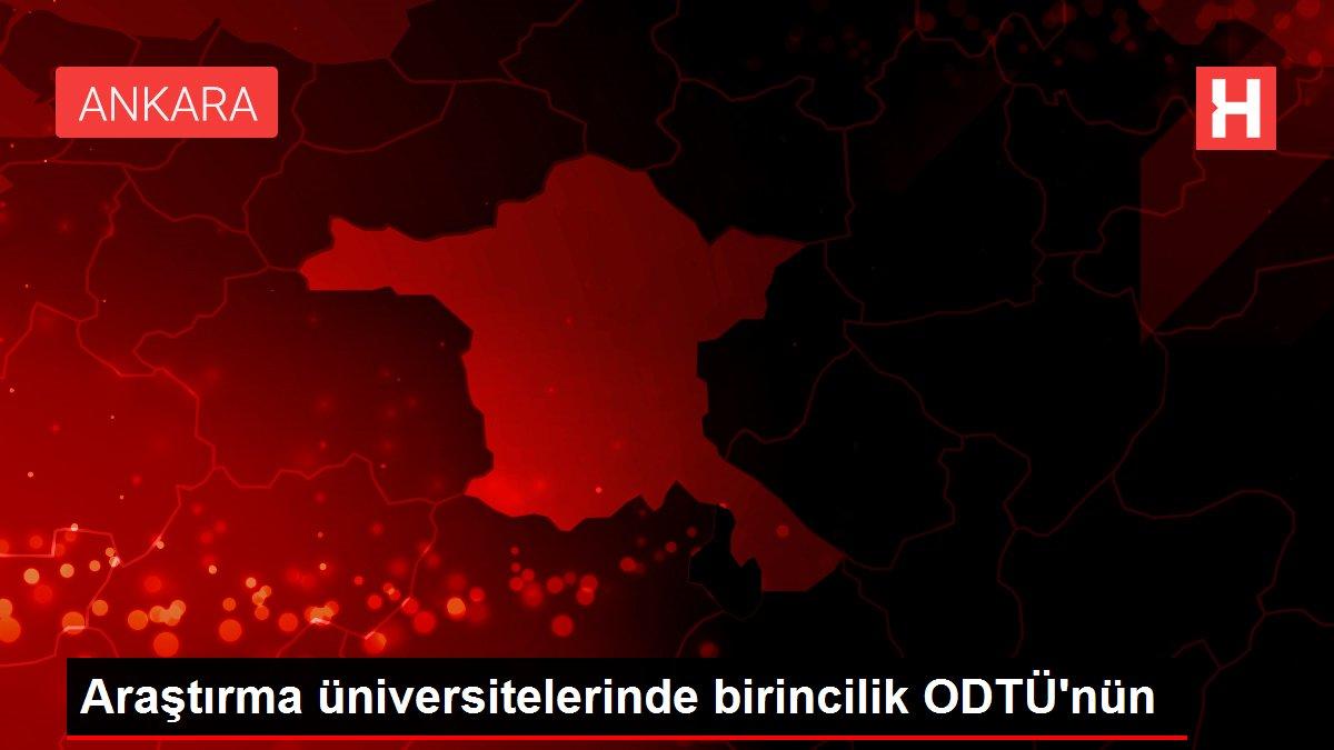 Araştırma üniversitelerinde birincilik ODTÜ'nün
