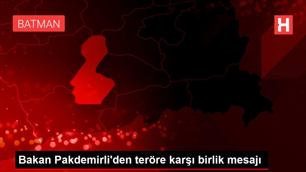 Bakan Pakdemirli'den teröre karşı birlik mesajı