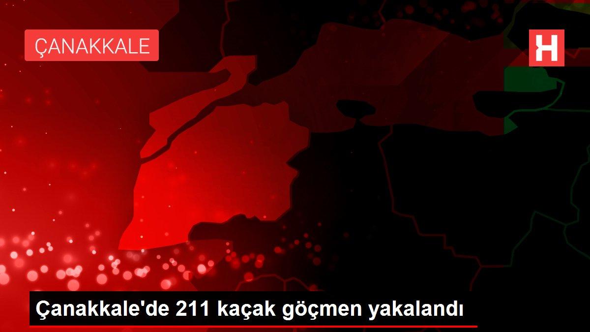 Çanakkale'de 211 kaçak göçmen yakalandı