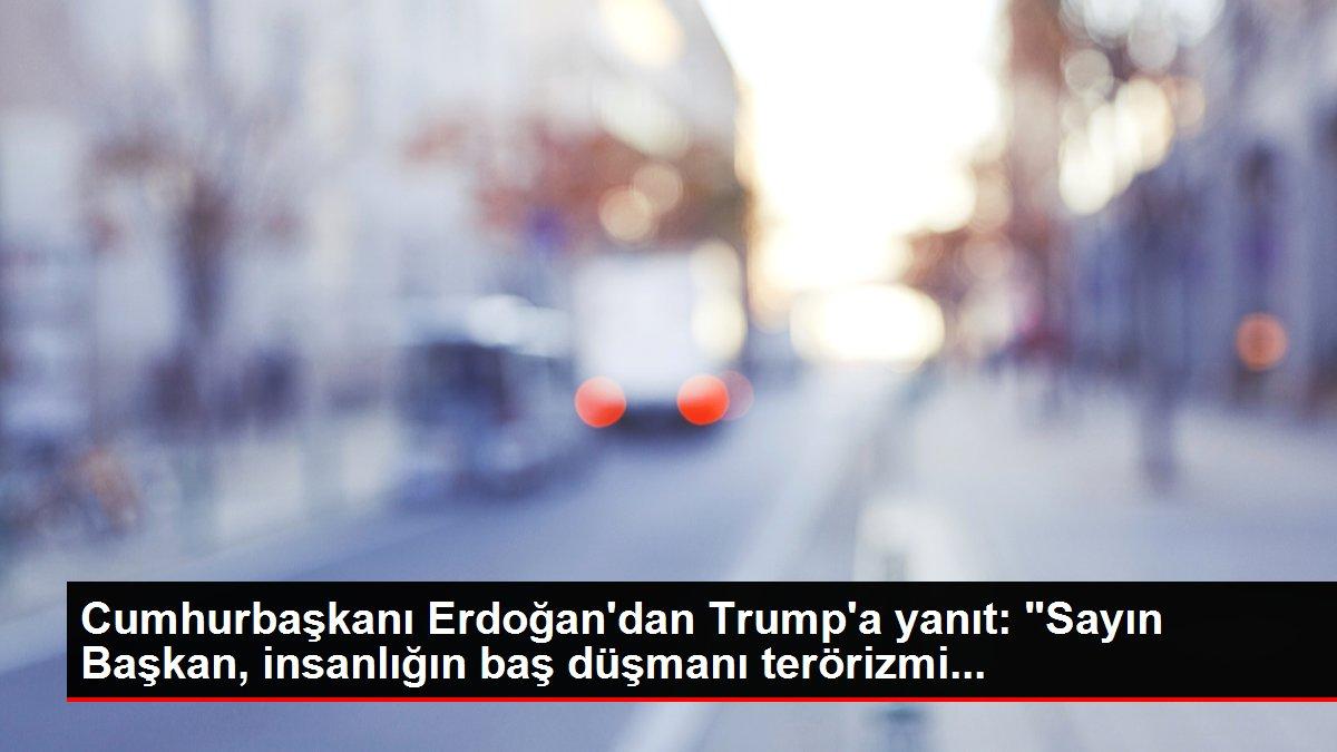 Cumhurbaşkanı Erdoğan'dan Trump'a yanıt: