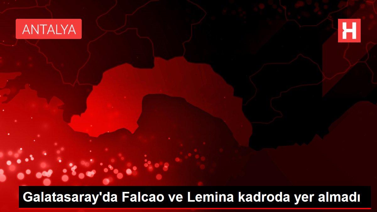 Galatasaray'da Falcao ve Lemina kadroda yer almadı