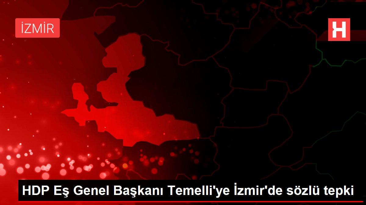 HDP Eş Genel Başkanı Temelli'ye İzmir'de sözlü tepki