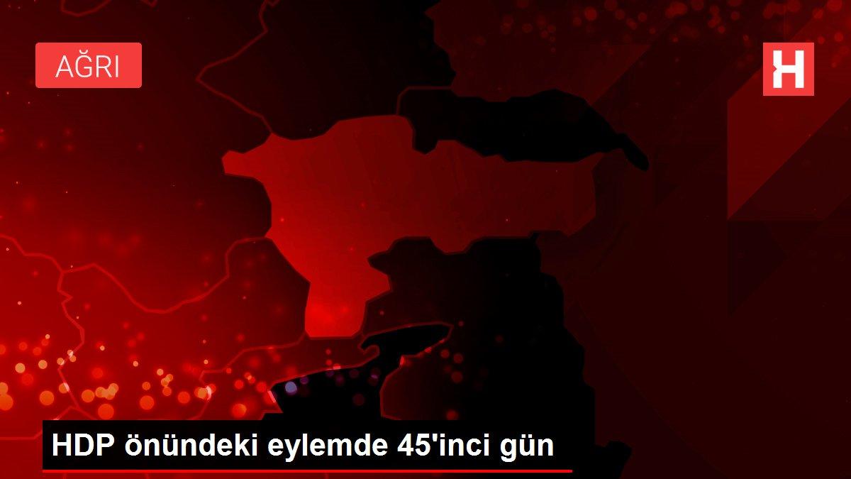 HDP önündeki eylemde 45'inci gün