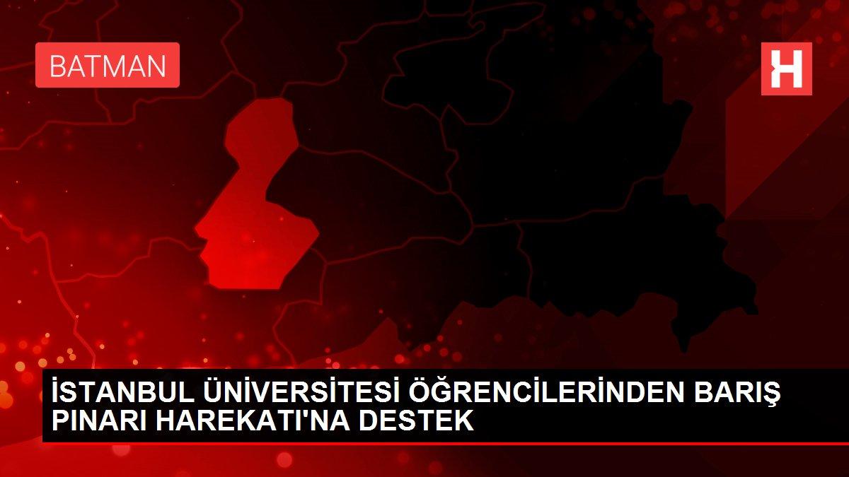 İSTANBUL ÜNİVERSİTESİ ÖĞRENCİLERİNDEN BARIŞ PINARI HAREKATI'NA DESTEK