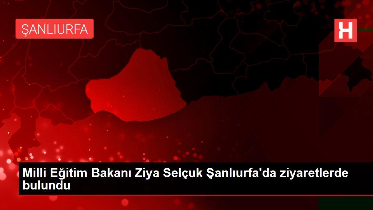 Milli Eğitim Bakanı Ziya Selçuk Şanlıurfa'da ziyaretlerde bulundu