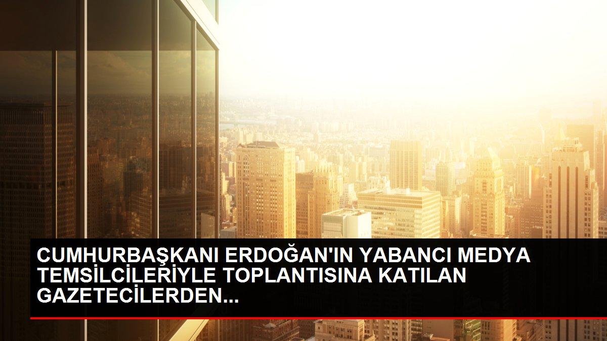 CUMHURBAŞKANI ERDOĞAN'IN YABANCI MEDYA TEMSİLCİLERİYLE TOPLANTISINA KATILAN GAZETECİLERDEN...