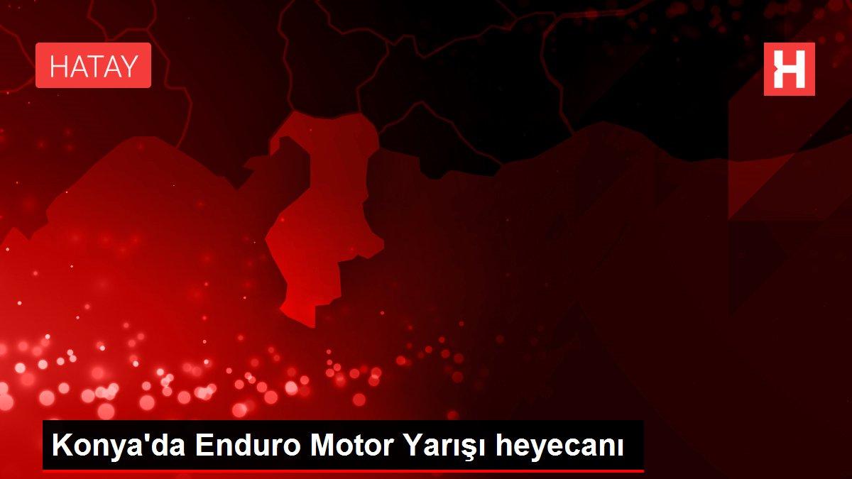 Konya'da Enduro Motor Yarışı heyecanı