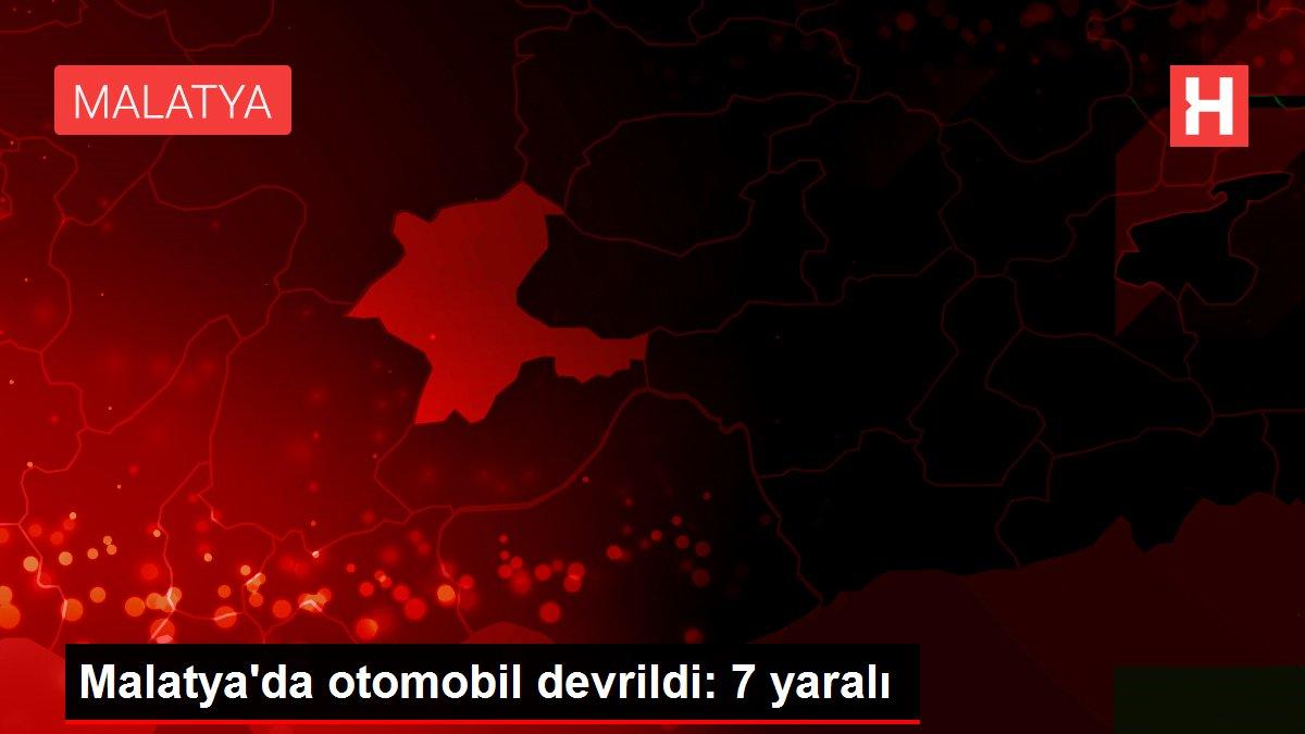 Malatya'da otomobil devrildi: 7 yaralı