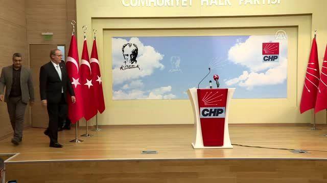 CHP MYK toplantısı - Genel Başkan Yardımcısı ve Parti Sözcüsü Öztrak