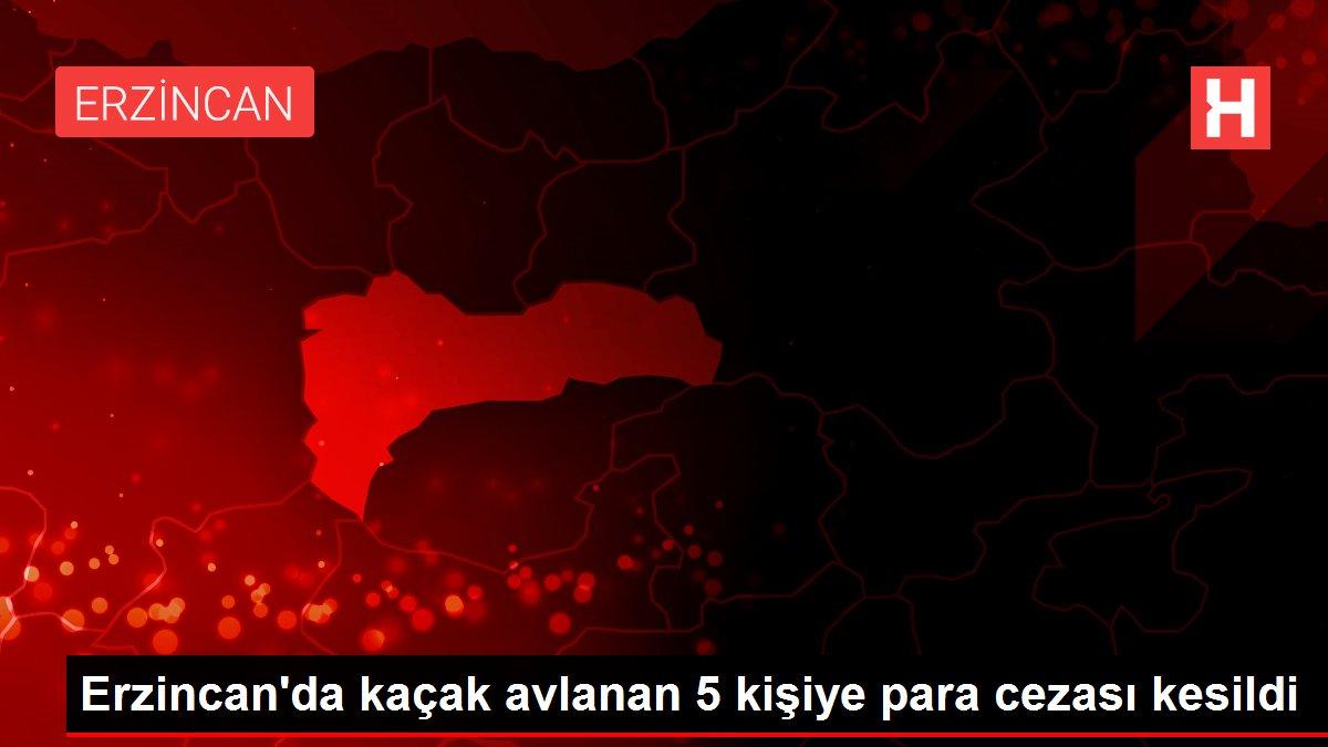 Erzincan'da kaçak avlanan 5 kişiye para cezası kesildi