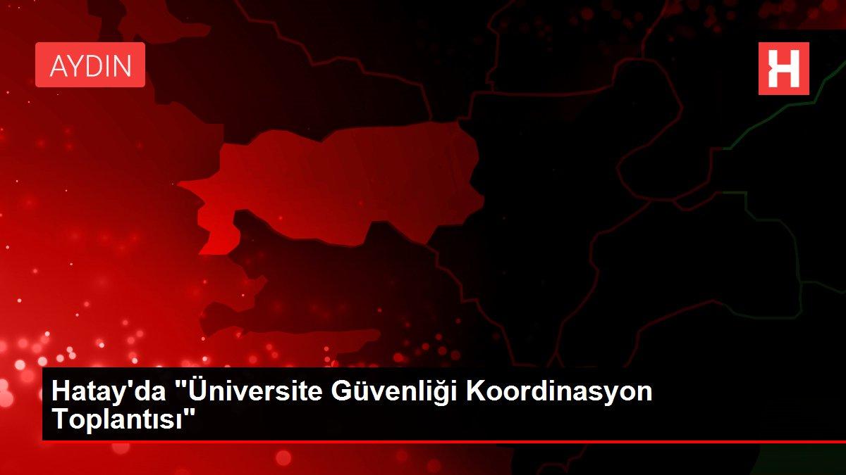 Hatay'da Üniversite Güvenliği Koordinasyon Toplantısı
