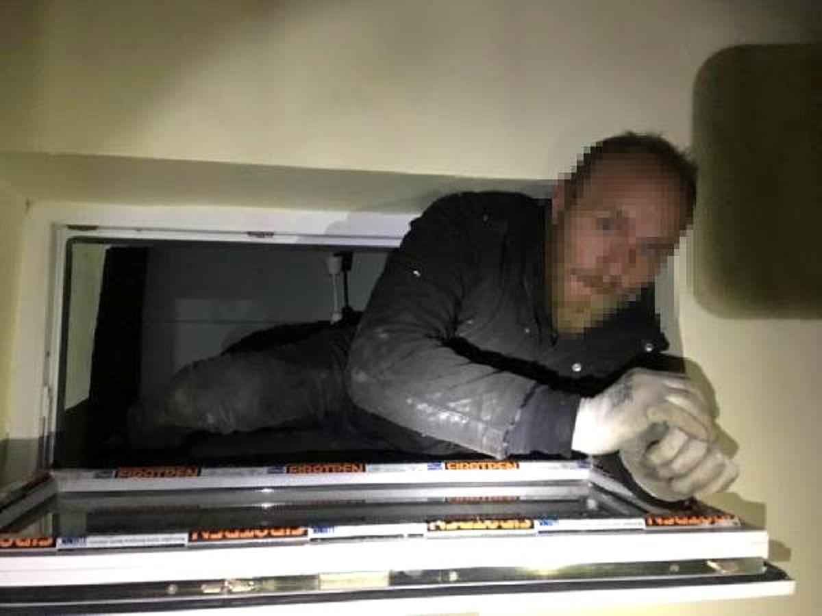 Hırsızlık şüphelisi havalandırma boşluğunda yakalandı