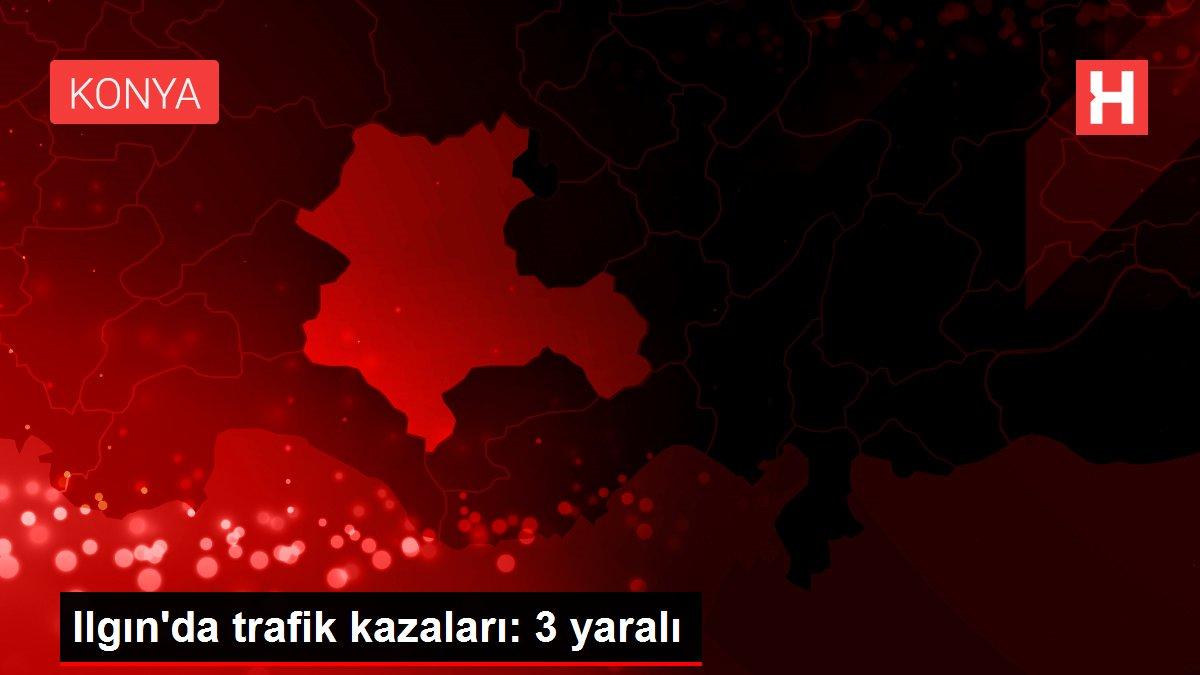 Ilgın'da trafik kazaları: 3 yaralı