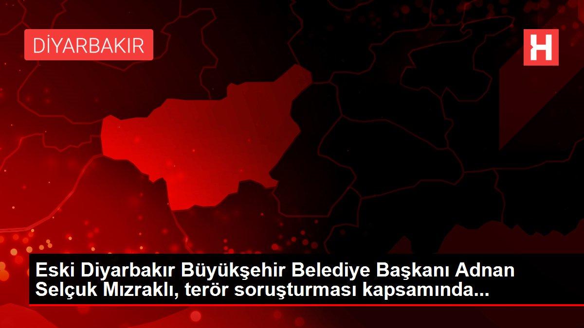 Eski Diyarbakır Büyükşehir Belediye Başkanı Adnan Selçuk Mızraklı, terör soruşturması kapsamında...
