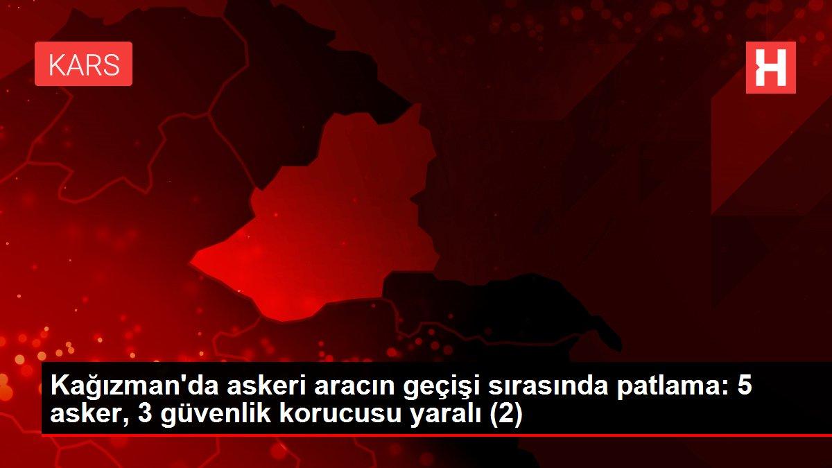 Kağızman'da askeri aracın geçişi sırasında patlama: 5 asker, 3 güvenlik korucusu yaralı (2)