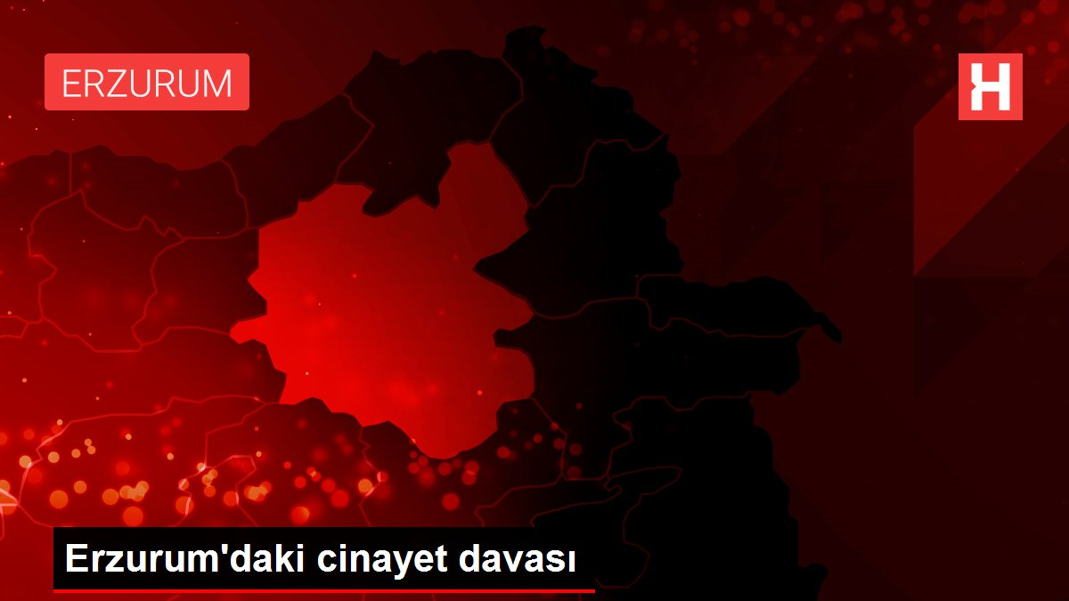 Erzurum'daki cinayet davası