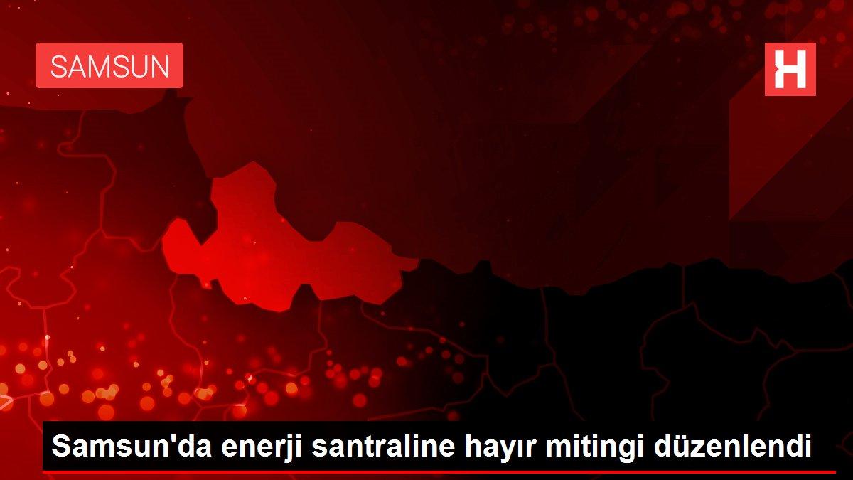 Samsun'da enerji santraline hayır mitingi düzenlendi