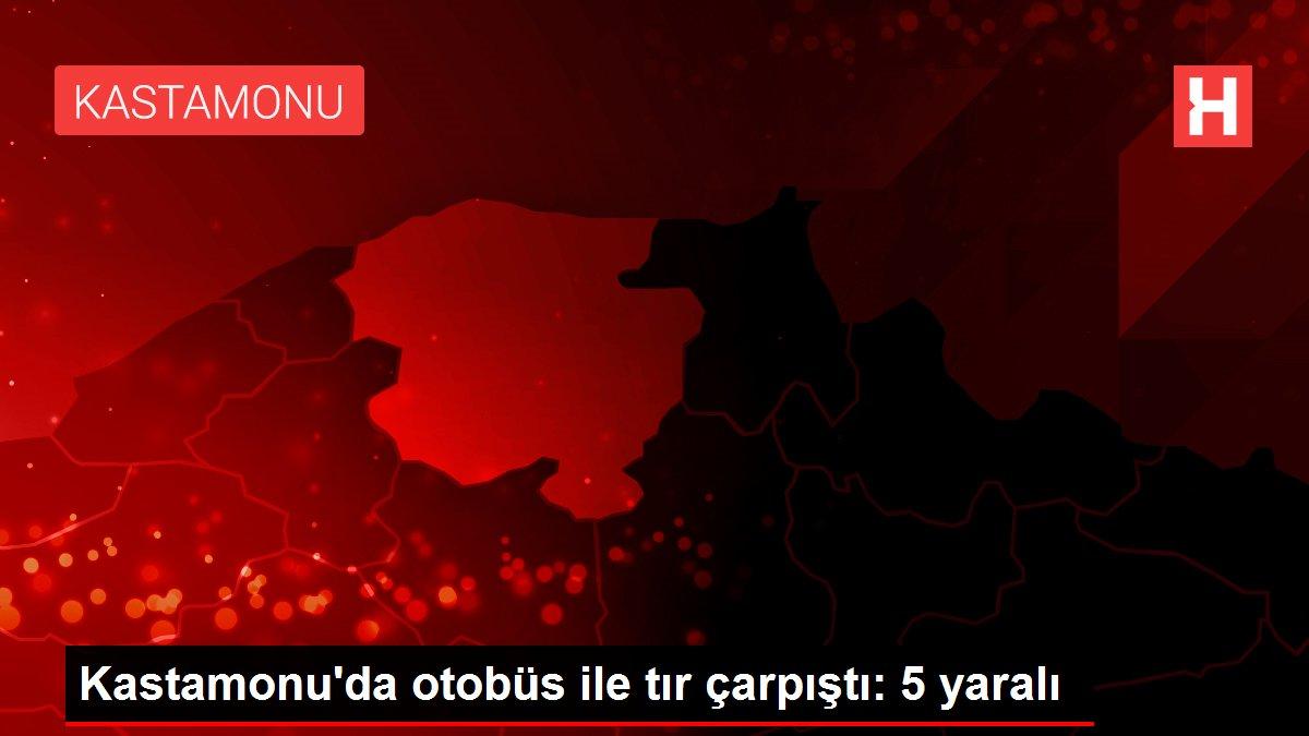 Kastamonu'da otobüs ile tır çarpıştı: 5 yaralı