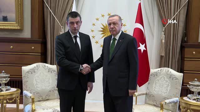 Cumhurbaşkanı Erdoğan, Gürcistan Başbakanı Giorgi Gakharia ile görüştü