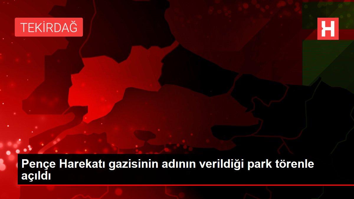 Pençe Harekatı gazisinin adının verildiği park törenle açıldı