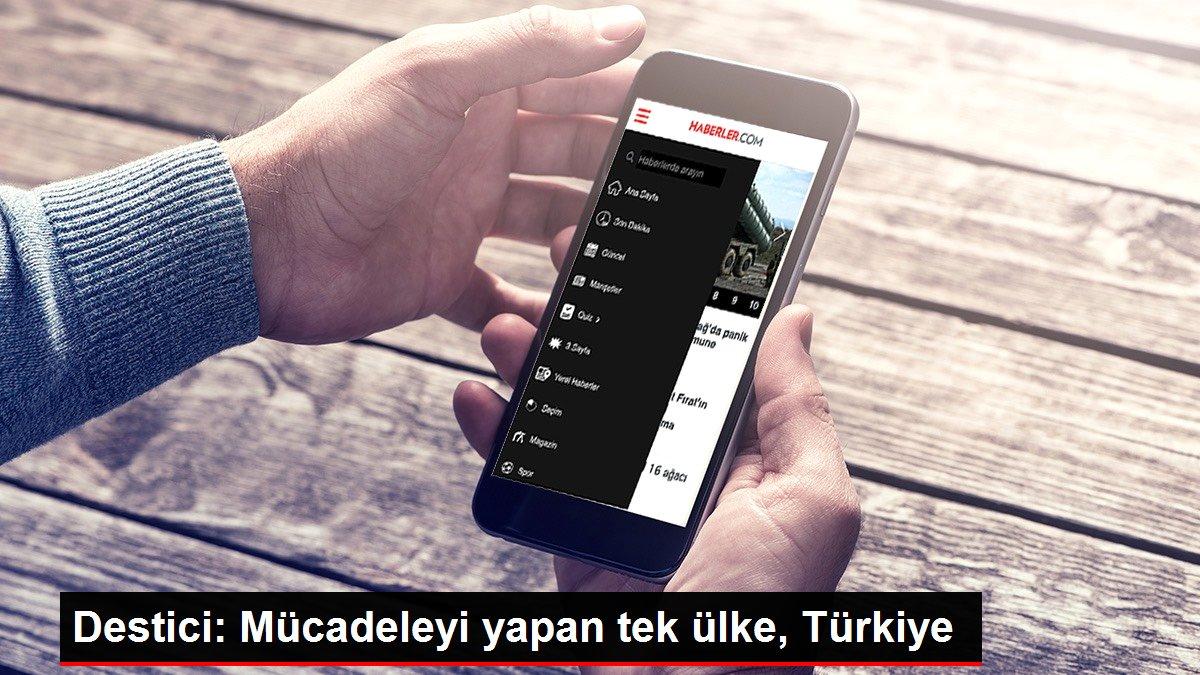 Destici: Mücadeleyi yapan tek ülke, Türkiye