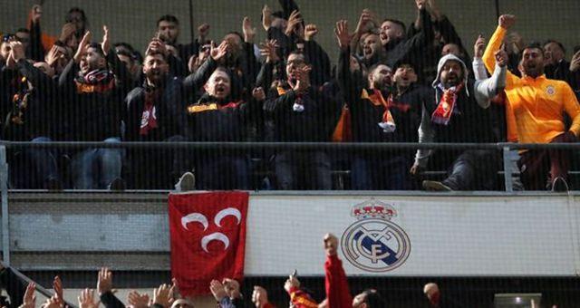 Real Madrid'in 4. golü sonrası Galatasaraylı taraftarlardan olay tezahürat!