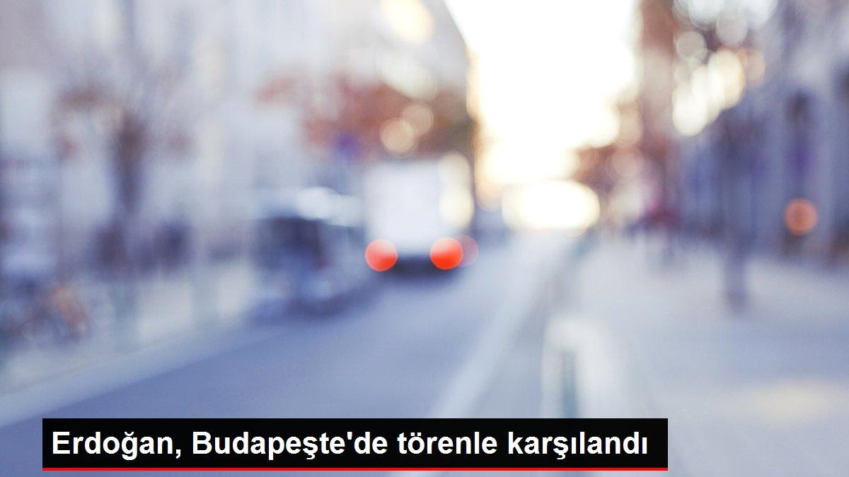 Erdoğan, Budapeşte'de törenle karşılandı
