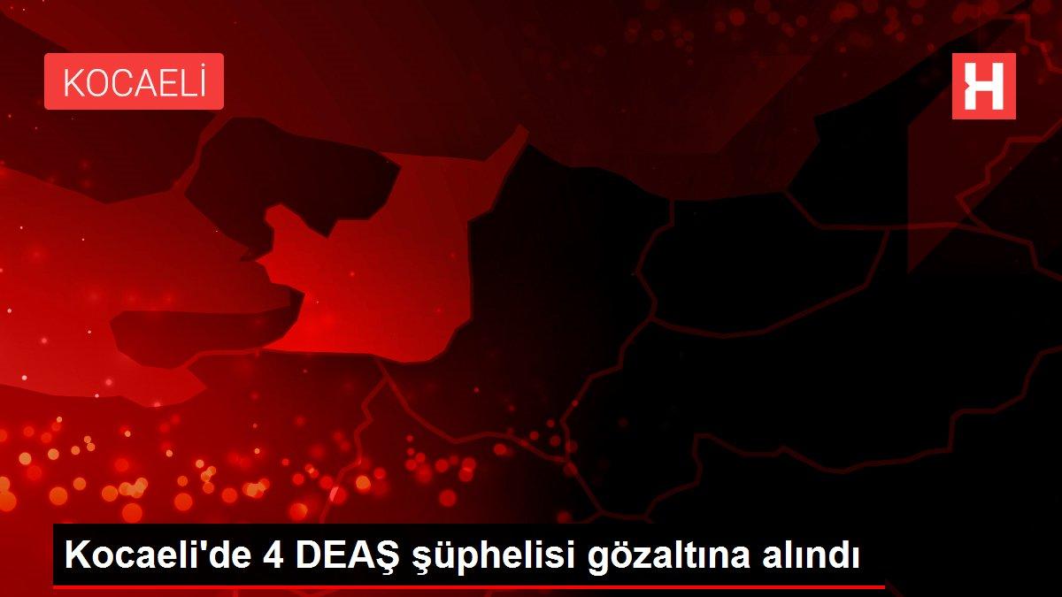 Kocaeli'de 4 DEAŞ şüphelisi gözaltına alındı