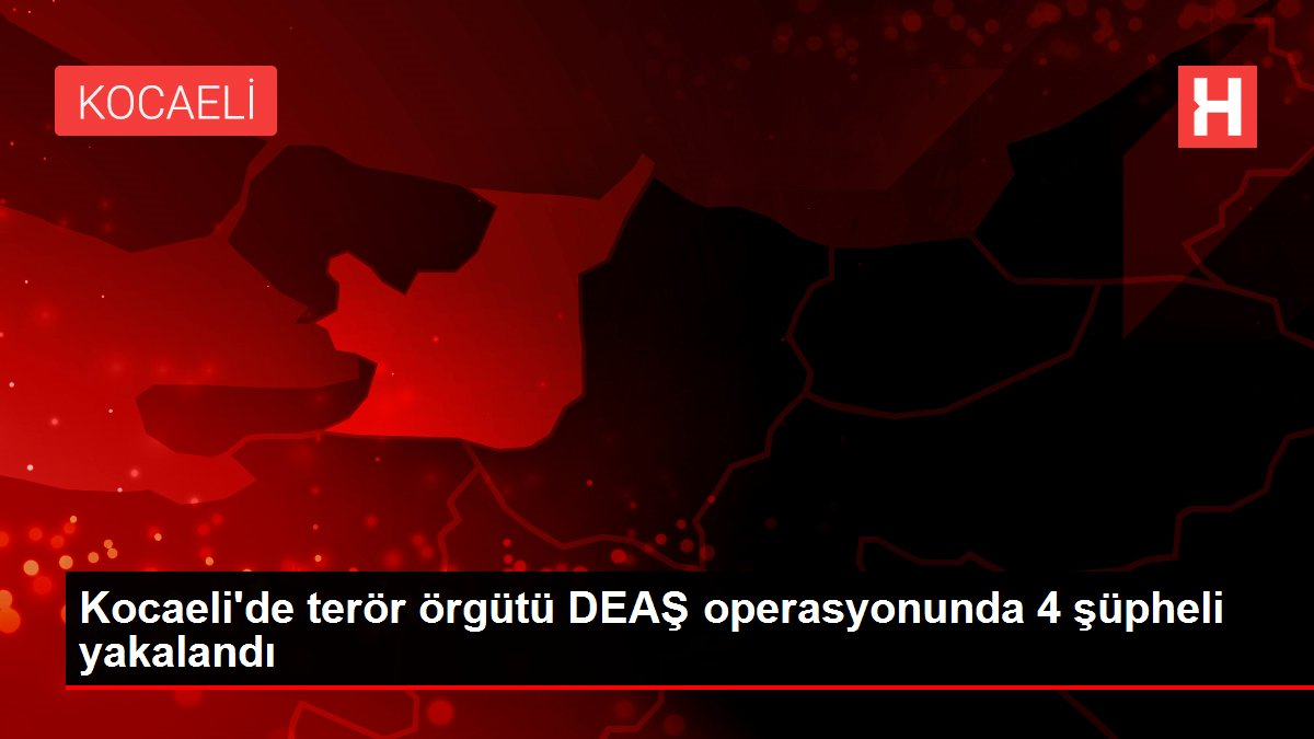 Kocaeli'de terör örgütü DEAŞ operasyonunda 4 şüpheli yakalandı