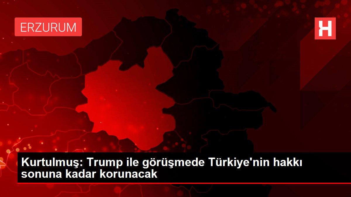 Kurtulmuş: Trump ile görüşmede Türkiye'nin hakkı sonuna kadar korunacak