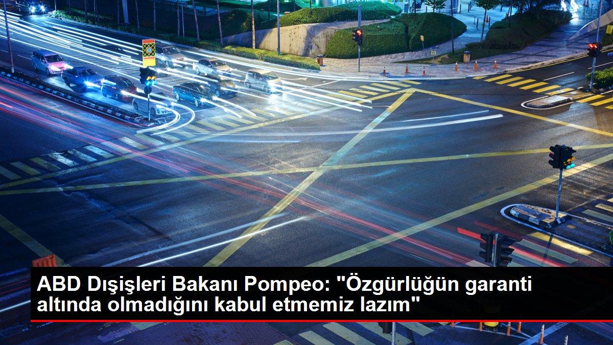 ABD Dışişleri Bakanı Pompeo: