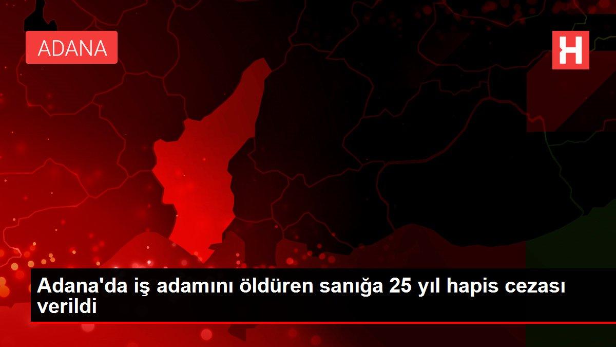Adana'da iş adamını öldüren sanığa 25 yıl hapis cezası verildi