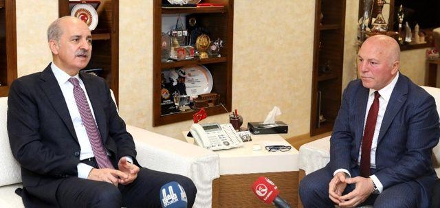 Ak Parti Genel Başkanvekili Kurtulmuş'tan Büyükşehir'e ziyaret